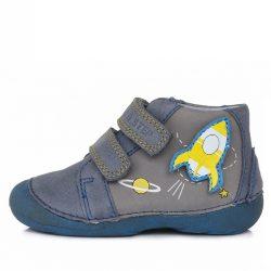 D.D.Step barefoot półbuty Sky Blue na rzepy