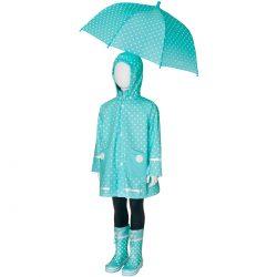 Parasol dziecięcy Playshoes miętowy w kropki