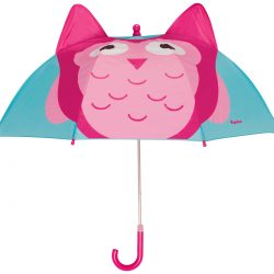 Parasol dziecięcy Playshoes sowa różowy dla dziewczynki