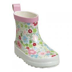 Playshoes kalosze miekkie kauczukowe lekkie kwiatki flower krótkie dla maluszków