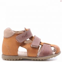 Emel sandałki zabudowane musztardowe